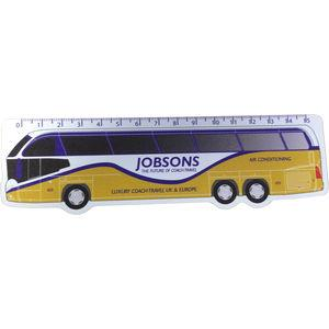 shaped thin plastic ruler branded merchandise office