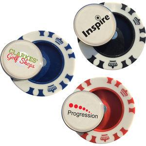 Vegas Poker Chip Dome Markers