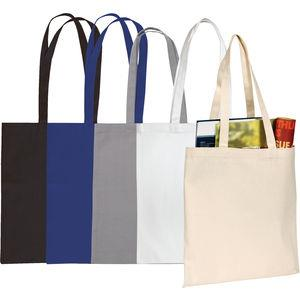 Sandgate' 7oz Cotton Canvas Tote Bag White / Black