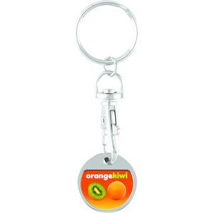Full Colour Digital Trolley Coin with Keychain