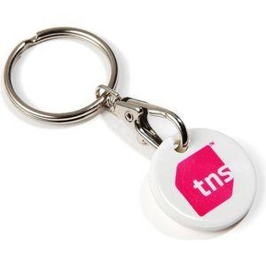 Trolley Coin Keyring - UK Made - Recycled