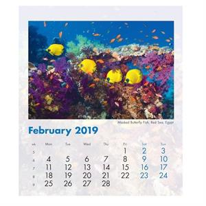 Blue Planet Mini Desk Calendar 2019
