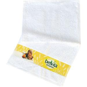 Towel with digital printed border