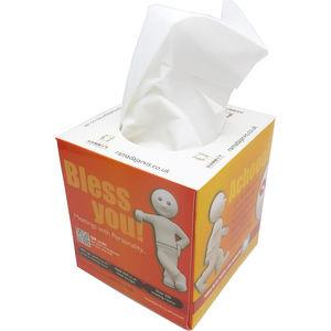 Box of 100 2-ply White Tissues in Printed Box