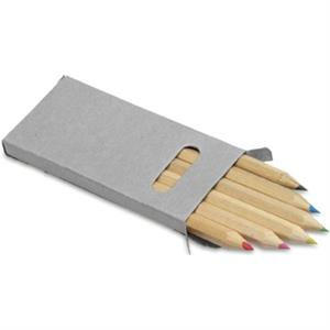 Six Colour Pencil Set