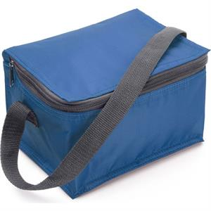 Six Can Polyester Cooler Bag.