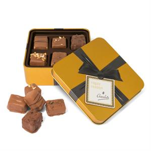 Gold Square Small Chocolate Tin