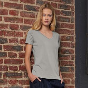 B & C Organic Women's V-Neck T-Shirt.