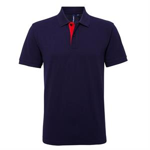 Asquith & Fox Men's Classic Fit Contrast Poloshirt