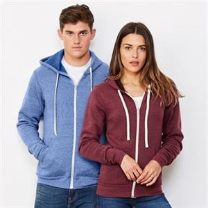 Bella & Canvas Unisex Triblend Full Zip Hoodie