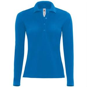 B&C Women's Safran Long Sleeved Poloshirt