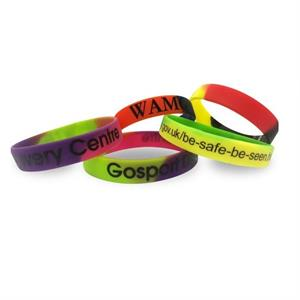 Multi Coloured Silicon Wristband