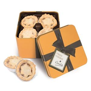 Gold Square Tin of Mince Pies