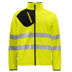 HI Vis Softshell Full Zip Jacket
