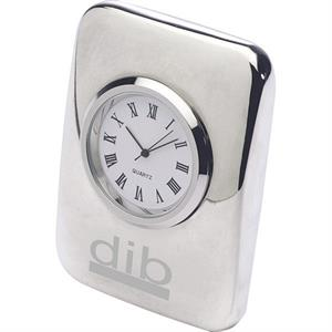 Silver Cushion Clock