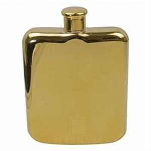 Shiny Gold Hip Flask 6oz