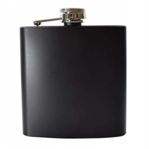 Matt Black Hip Flask 6oz