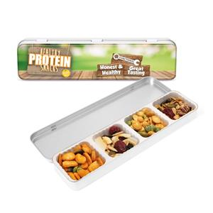 Slim Tin Of Healthy Protein Snacks