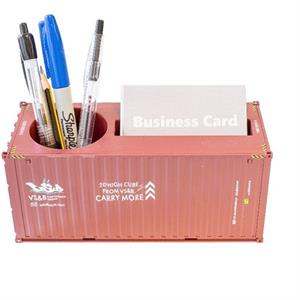 Container Pen and Business Card Holder