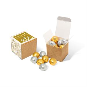 Eco Cube - Foiled Chocolate Balls