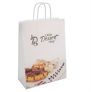 Twisted Paper Handle Carrier Bag. 240 x 110 x 310 mm.