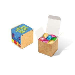 Eco Cube of Foiled Chocolate Eggs