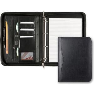 Balmoral Leather Zipped Ring Binder & Pad