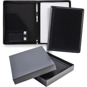 A4 Zipped Ascot Leather Conference Folder