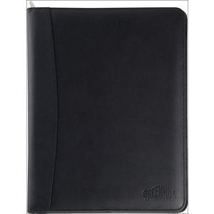 Malvern Genuine Leather A4 Zipped Folder