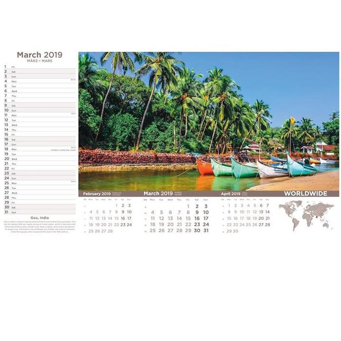 Worldwide Wall Calendar