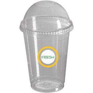 Smoothie + Lid - 20oz/600ml - Clear  - Disposable