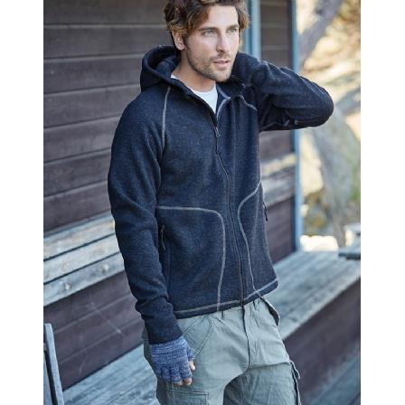 Teejays Men's Hooded Aspen Knitted Fleece
