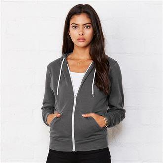 Bella & Canvas Unisex Polycotton Fleece Full Zip Hoodie