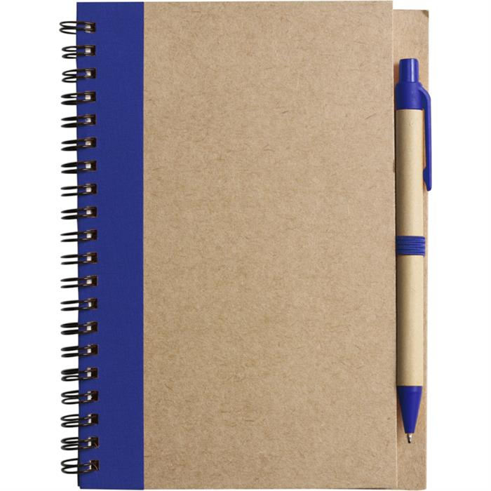 Recycled Notebook with Pen.